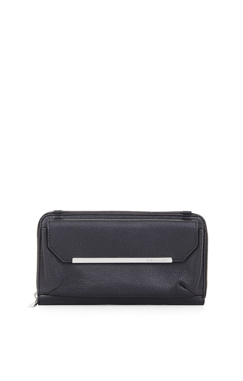 Tricia Pebbled Leather Crossbody Wallet