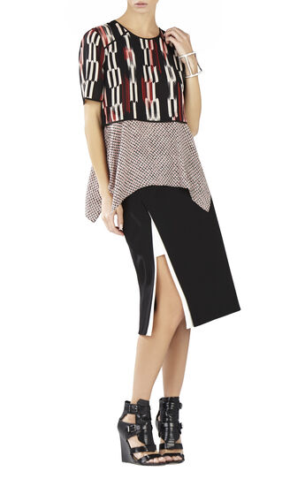 Kacy Print-Blocked Layered Top