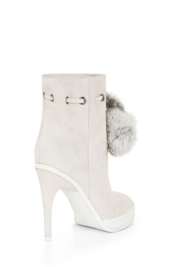 Perry High-Heel Fur Pom Bootie