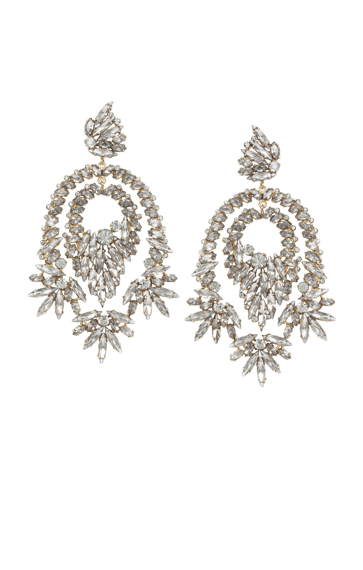 Rhinestone Cocktail Earrings – Oversized Chandelier Earrings