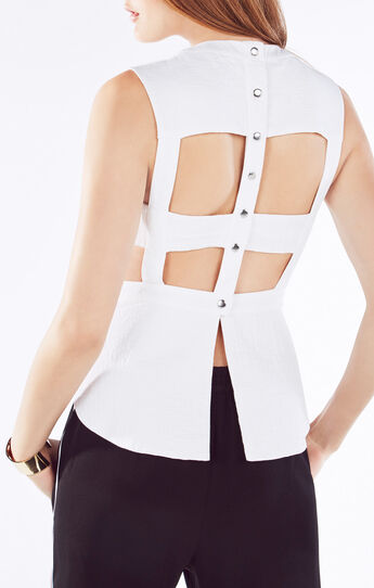 Trinity Bib-Front Cutout-Back Top