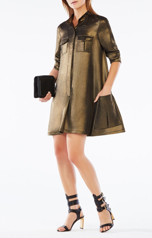Emilee Metallic Shirt Dress