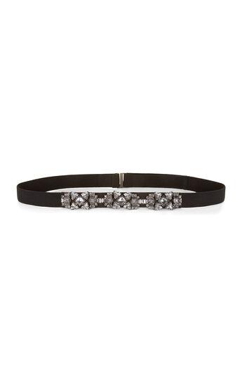 Stone Embellished Elastic Waist Belt