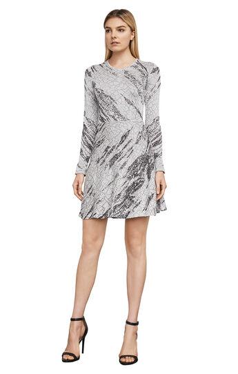 Jillian Crackled-Jacquard Dress