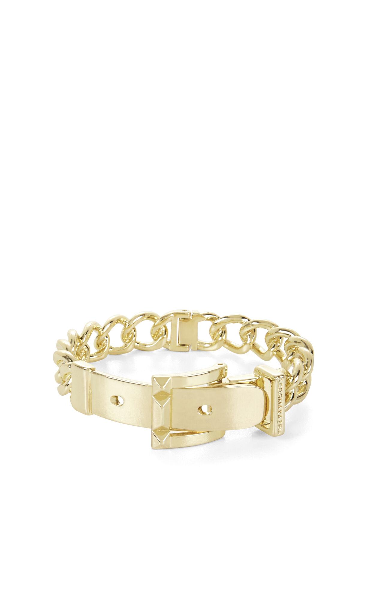 Pyramid-Buckle Chain Bracelet