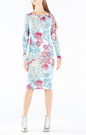 Voletta Floral Lace Print Dress