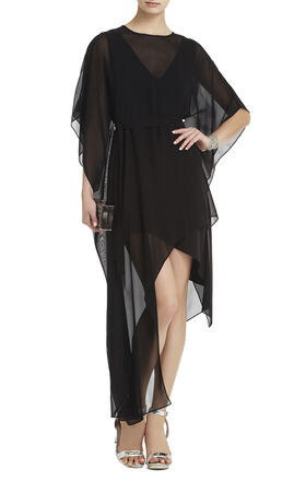Suzy Draped Asymmetrical Silk Dress