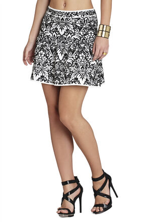 Jensen Puckered-Jacquard Peplum Skirt