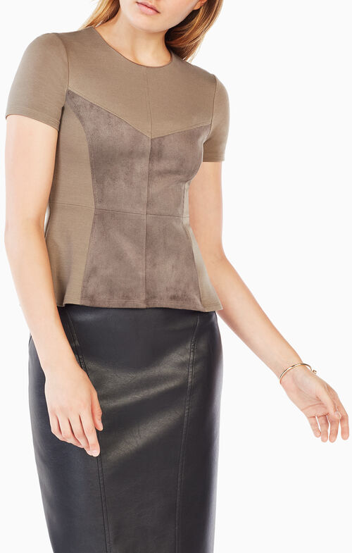 Denna Faux Suede Top