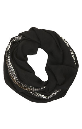 Sequin Panel Scarf