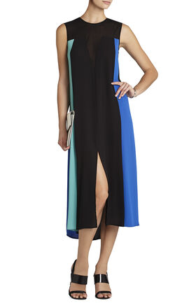 Becka Sleeveless Color-Blocked Dress
