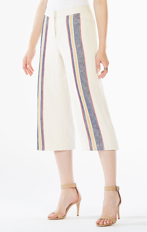 Malik Striped Culottes