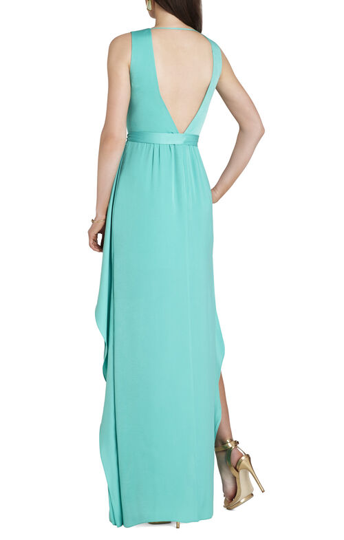 Suzanne Sleeveless Tie-Waist Gown
