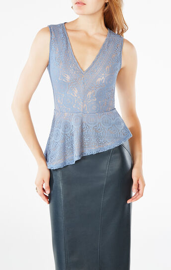 Avalon Lace Peplum Top