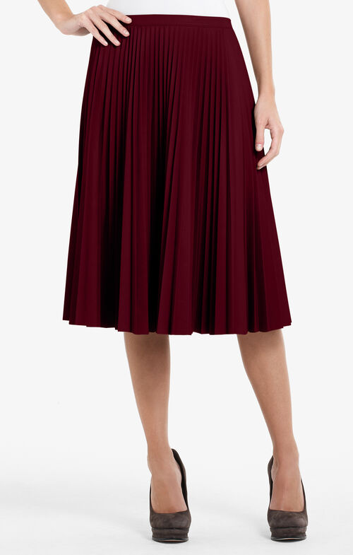 Elsa Pleated Faux-Leather Skirt