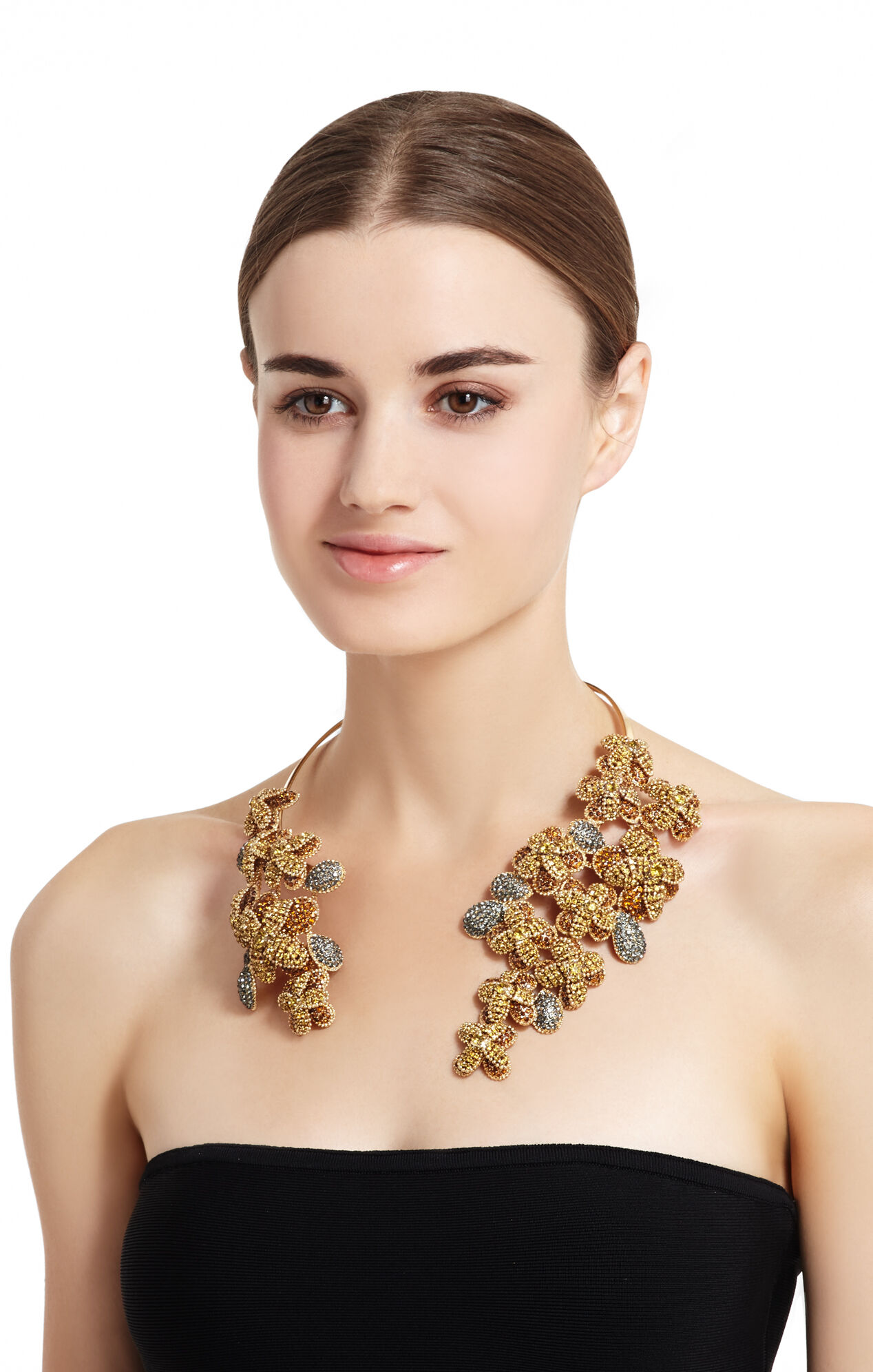 Floral Stone Cascade Necklace