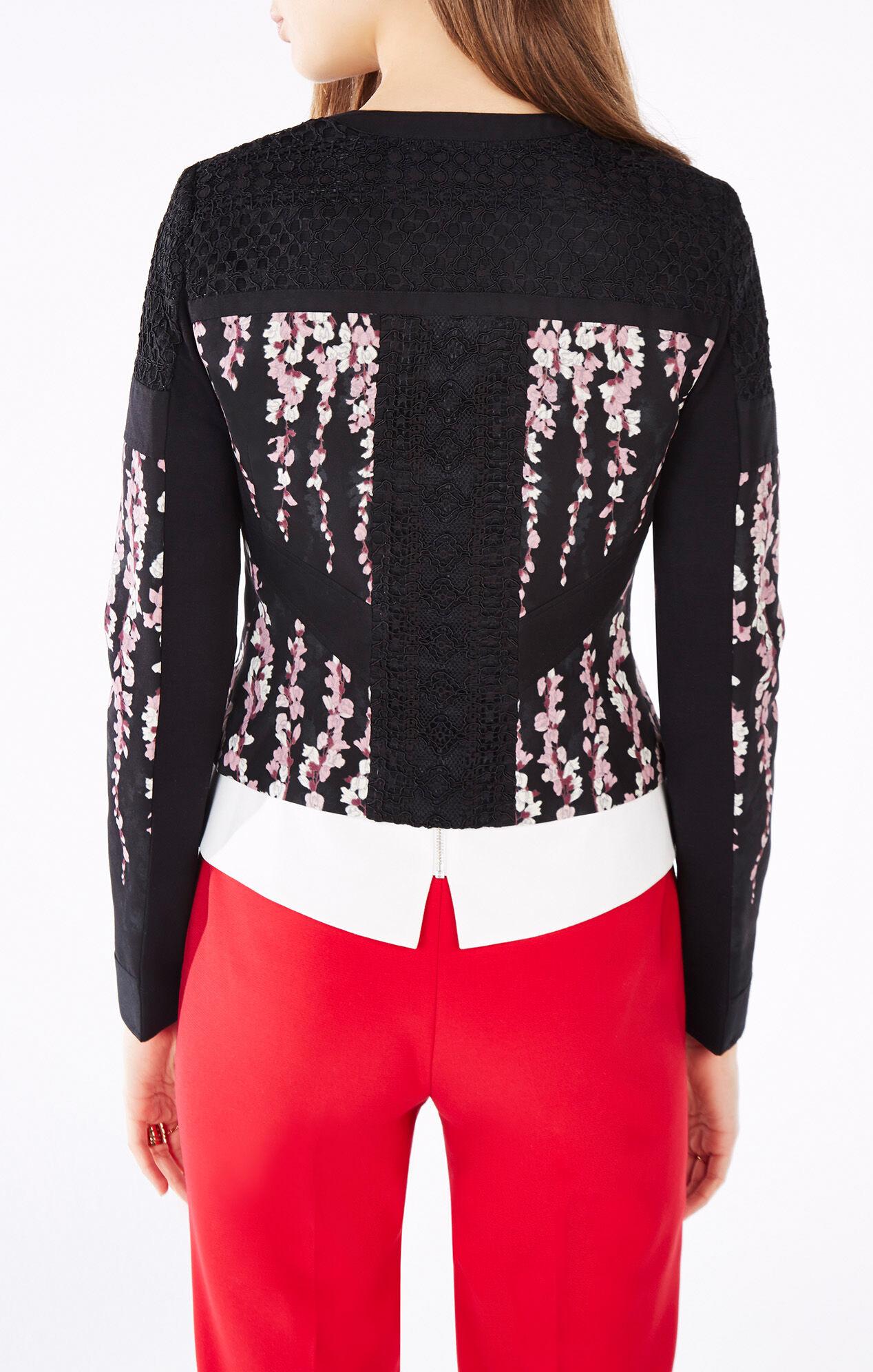 Tarik Floral Print-Blocked Jacket
