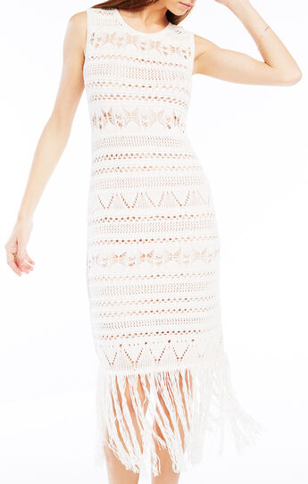 Bryn Fringe Crochet Dress