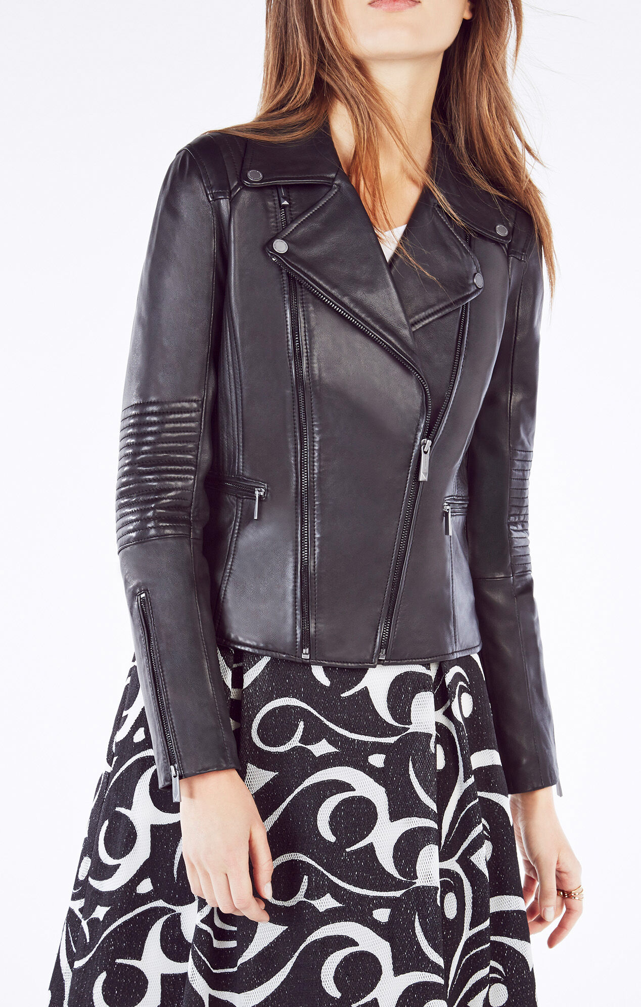 Leather jacket bcbg