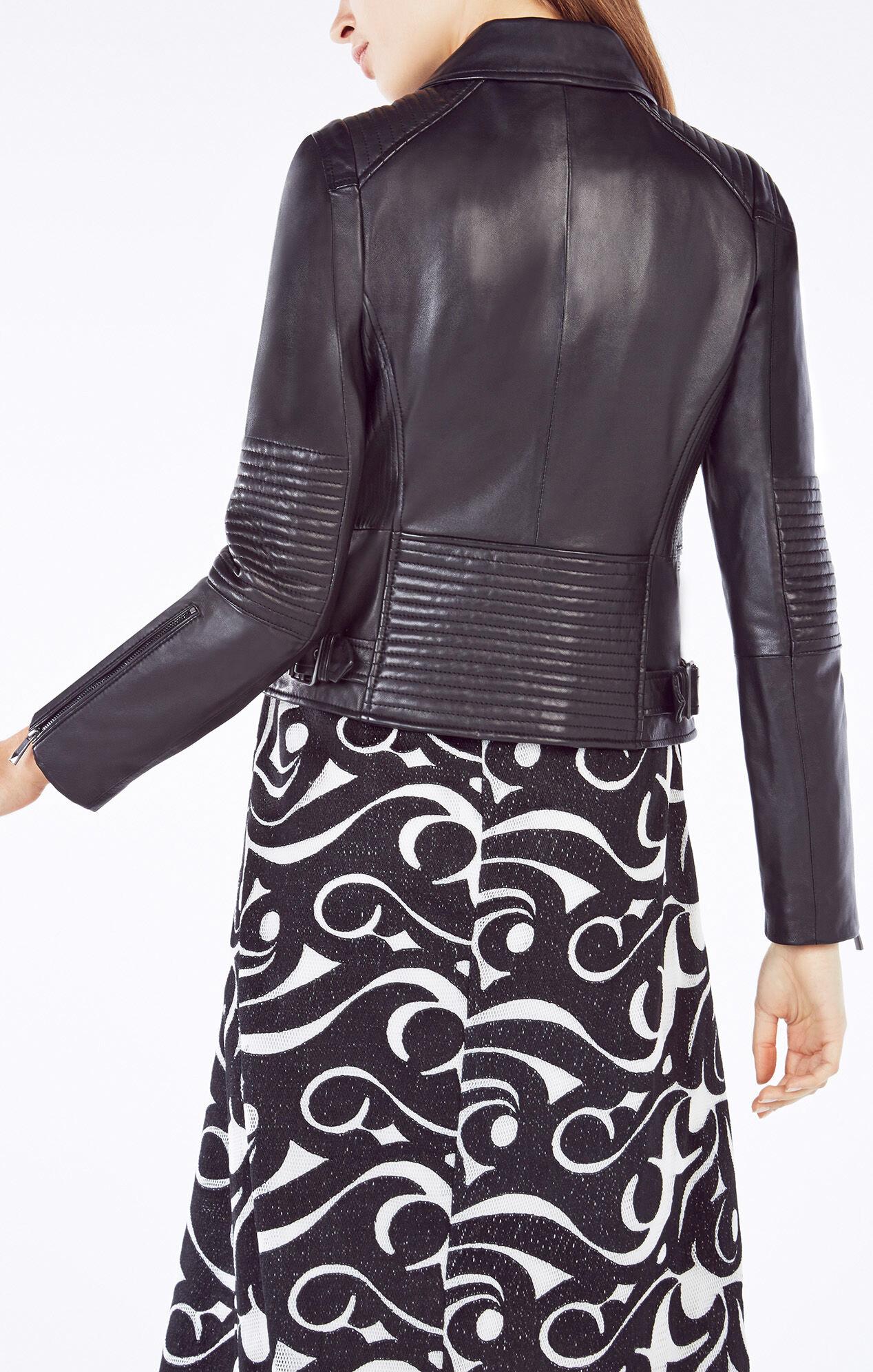 Lila Leather Moto Jacket