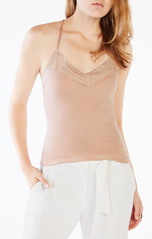 Kailie Lace-Trim Tank Top