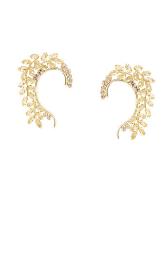 Floral Stone Ear Cuff - Right