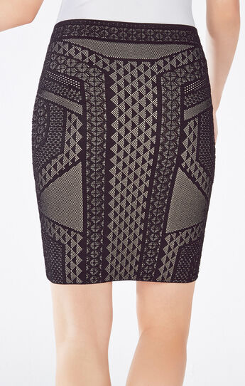 Josa Geometric Relief Jacquard Skirt