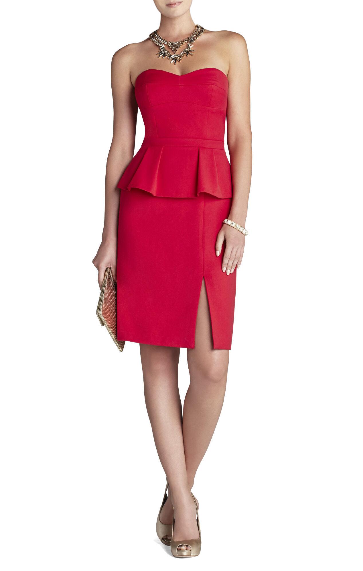 Penelope Strapless Bustier Peplum Dress