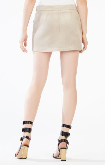Beckett Faux-Suede Miniskirt