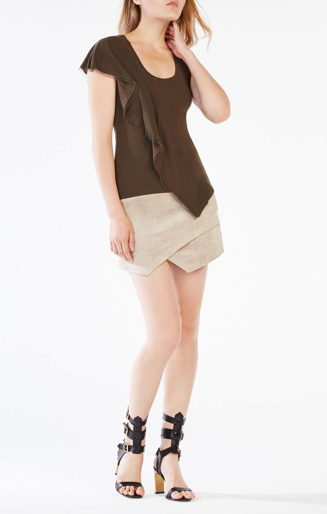 Beckett Faux-Suede Miniskirt