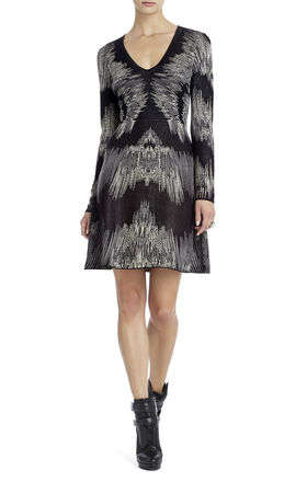 Katia Electric Strokes Jacquard Dress