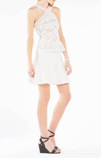 Annica Crochet Lace Peplum Top