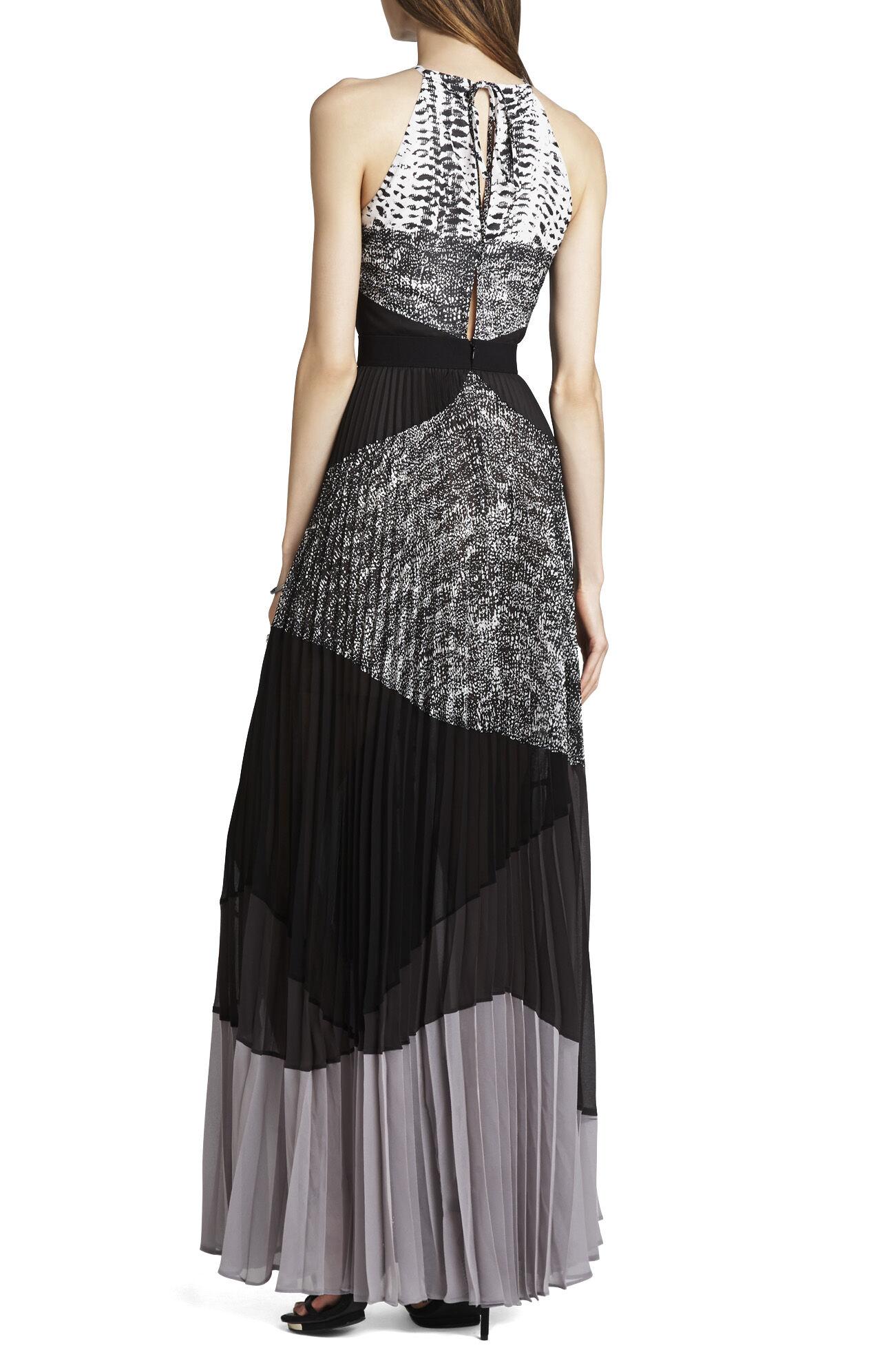 Clarissa Pleated Halter Dress