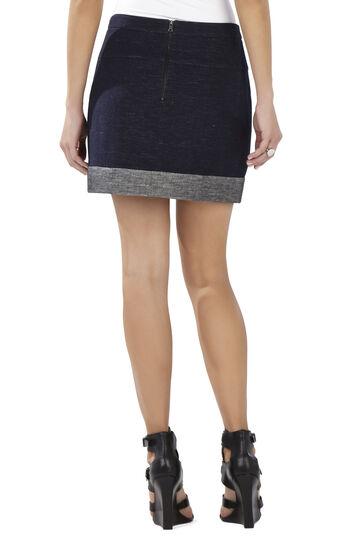 Alden Blocked Hem Miniskirt