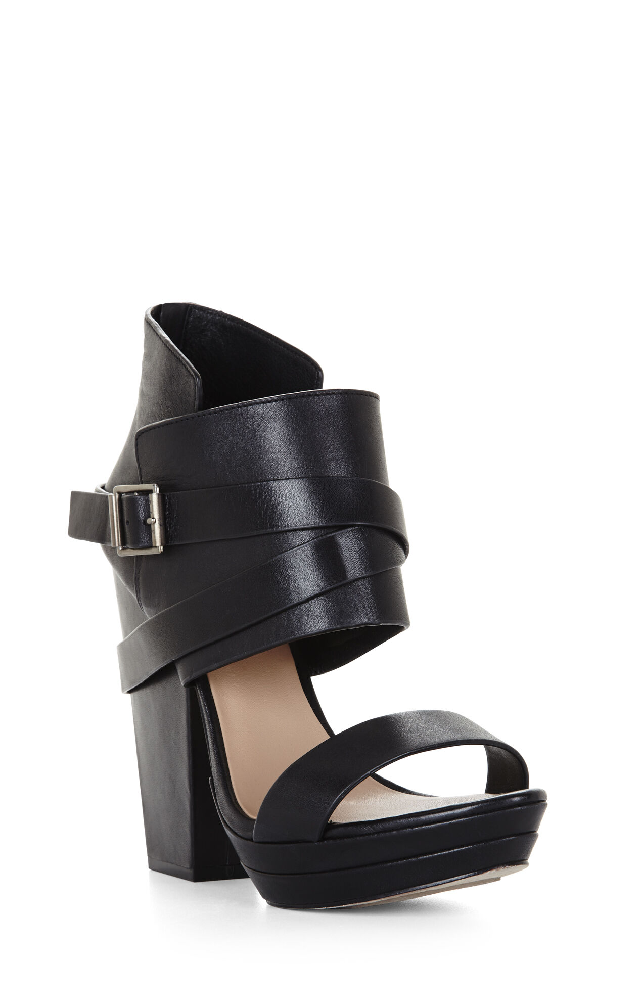 Runway Wilder High-Heel Ankle-Cuff Day Sandal