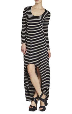 Arianna Striped High-Low Dress