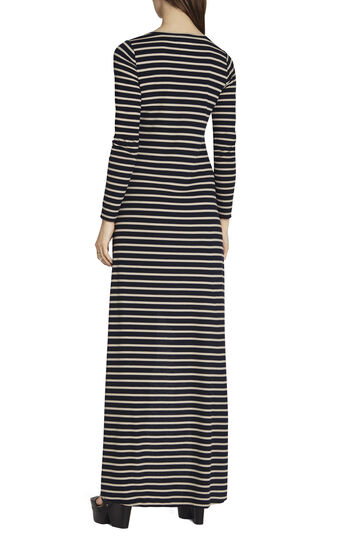Arianna Striped High-Low Dress