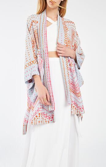 Tildie Geometric Print Kimono Top