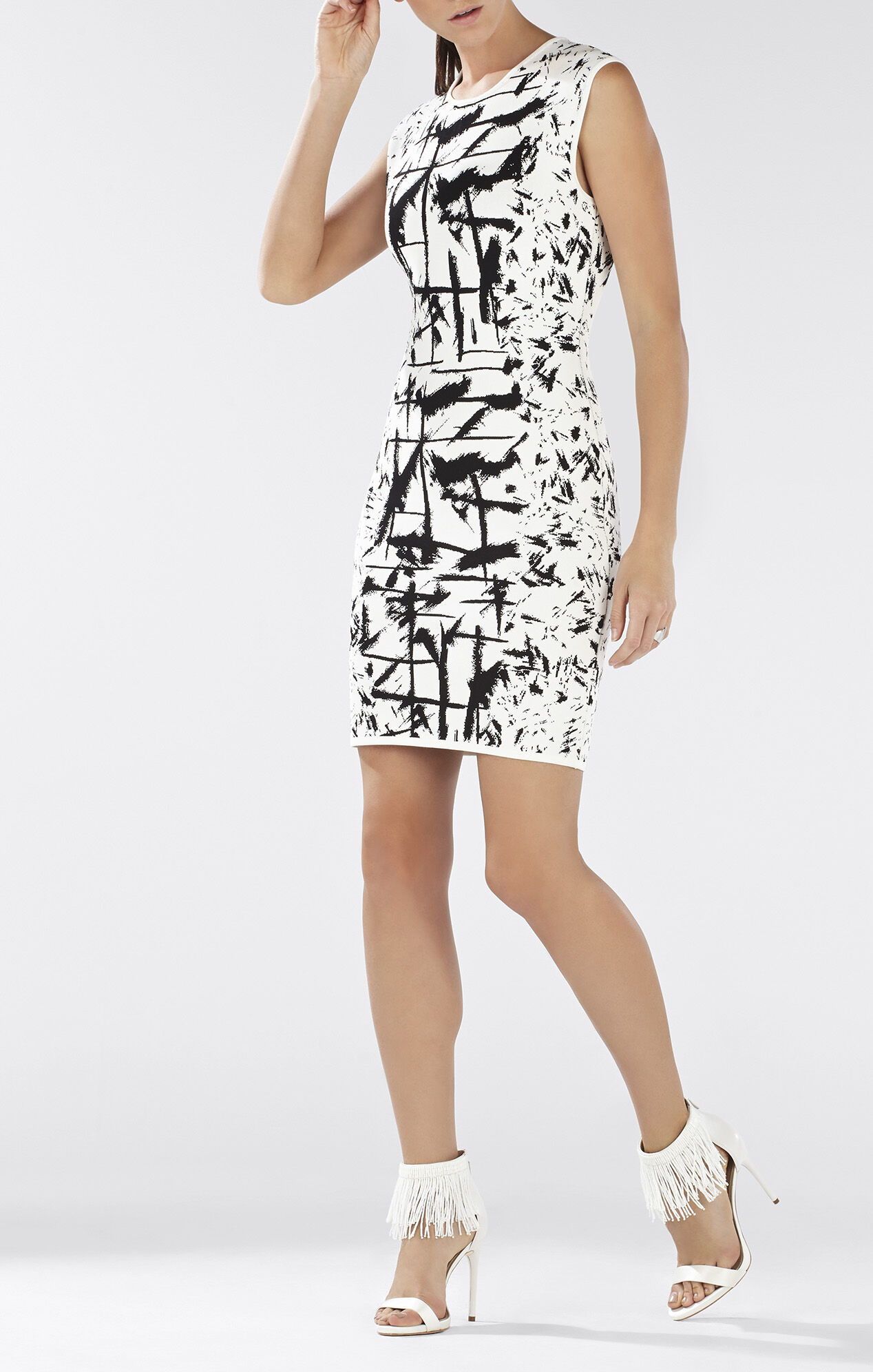 Jose Sleeveless Jacquard Dress