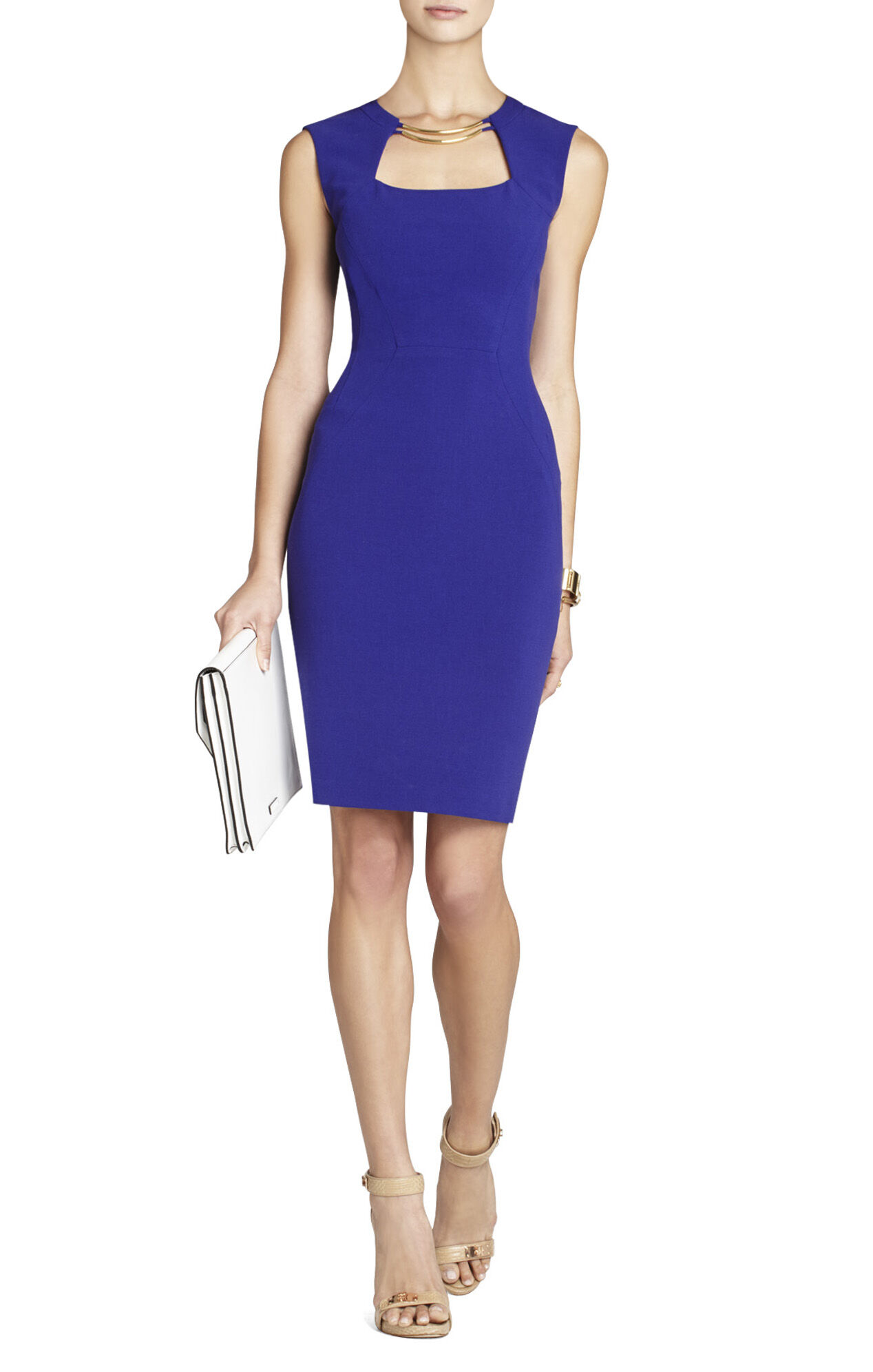 Clara Blocked Sheath Dress