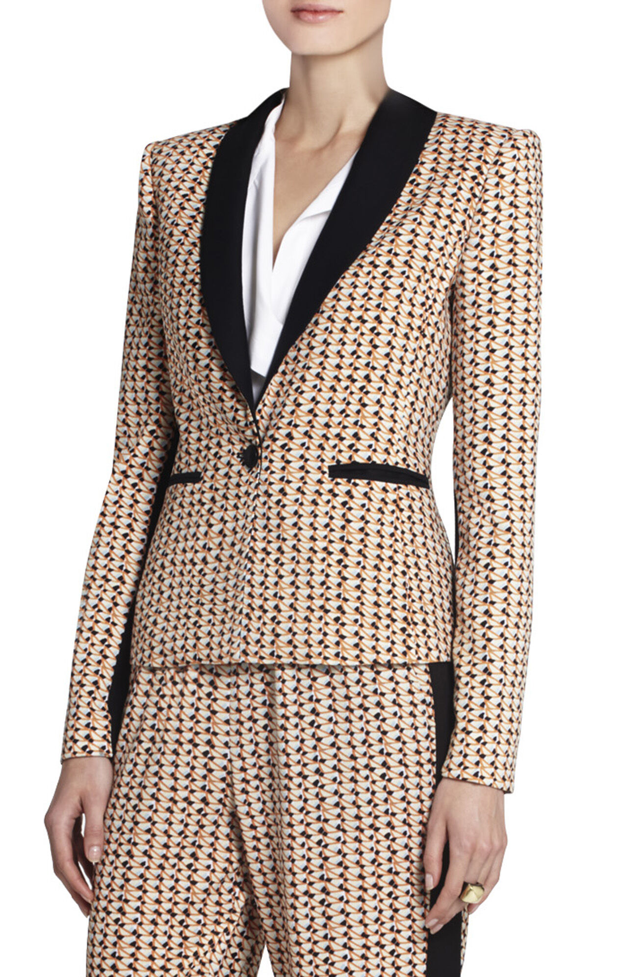 Sur Printed Shawl-Collar Jacket