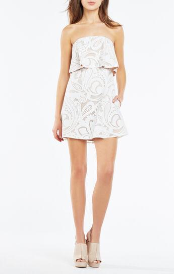 Leeah Strapless Paisley Dress