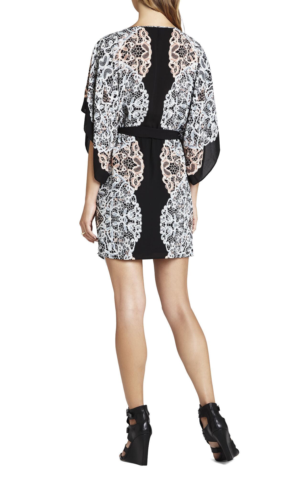 Lois Kimono-Sleeve Printed Dress
