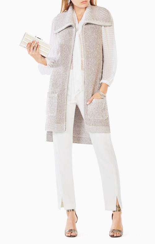 Kalia Metallic Cardigan Vest