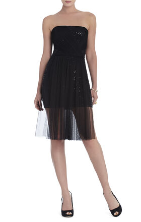 Vienna Strapless Sequin Dress