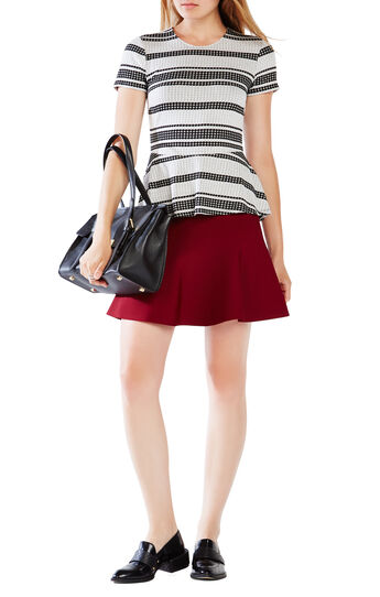 Karine Striped Peplum Top