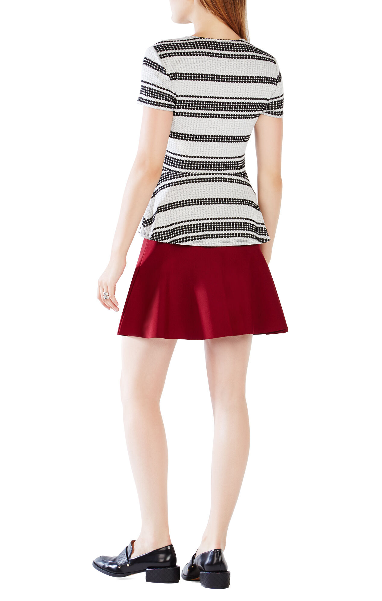 Karine Striped Peplum Top