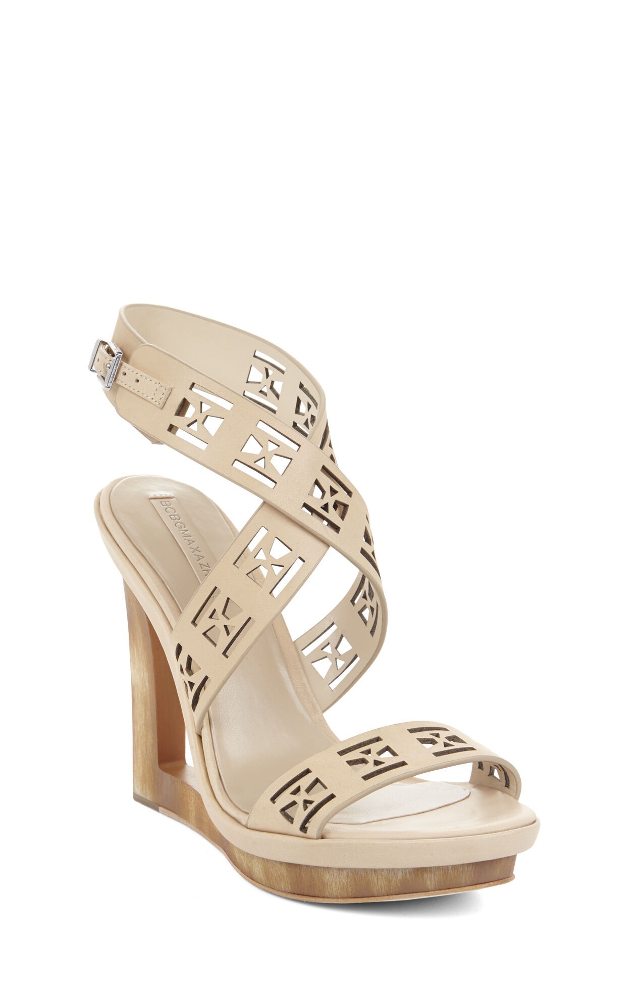 Mazey Laser-Cut Wedge Day Sandal