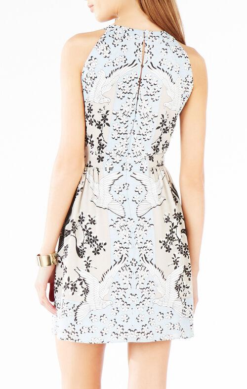 Cambria Fluttering Dove Print Dress