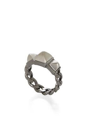 Dual-Tone Triple-Pyramid Ring